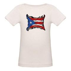 Puerto Rico Heat Flag Organic Baby Tee