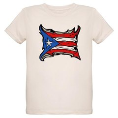 Puerto Rico Heat Flag Organic Kids T-Shirt