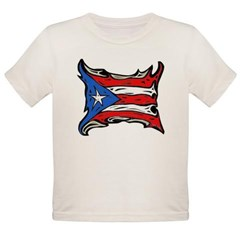 Puerto Rico Heat Flag Organic Toddler T-Shirt