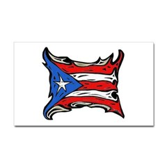 Puerto Rico Heat Flag Rectangle Decal