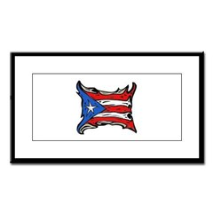 Puerto Rico Heat Flag Small Framed Print