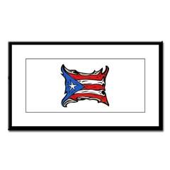 Puerto Rico Heat Flag Small Framed Print