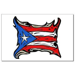 Puerto Rico Heat Flag Small Posters