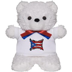 Puerto Rico Heat Flag Teddy Bear