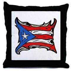 Puerto Rico Heat Flag Throw Pillow
