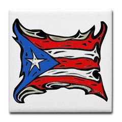 Puerto Rico Heat Flag Tile Coaster