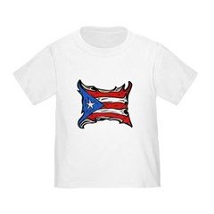Puerto Rico Heat Flag Toddler T-Shirt