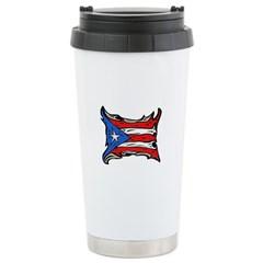 Puerto Rico Heat Flag Travel Mug