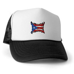 Puerto Rico Heat Flag Trucker Hat