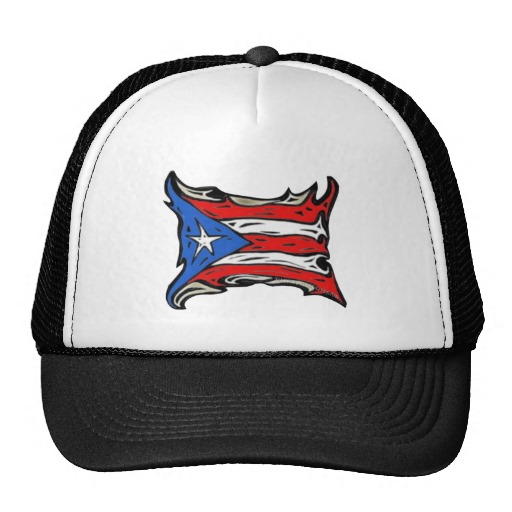 Puerto Rico Heat Flag Trucker Hat