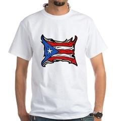 Puerto Rico Heat Flag White T-Shirt