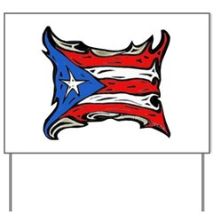 Puerto Rico Heat Flag Yard Sign