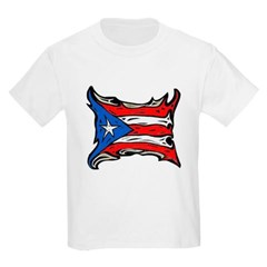 Puerto Rico Heat Flag Youth T-Shirt by Hanes