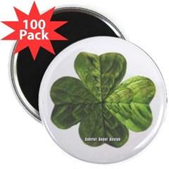 """Concentric 4 Leaf Clover 2.25"""" Magnet (100 pack)"""
