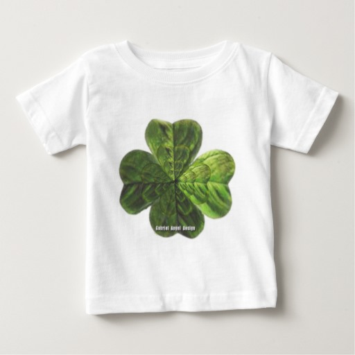 Concentric 4 Leaf Clover Baby Fine Jersey T-Shirt