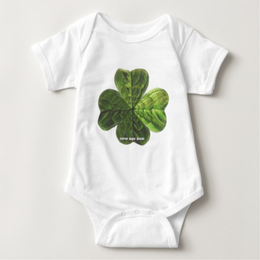 Concentric 4 Leaf Clover Baby Jersey Bodysuit