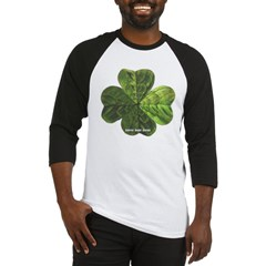 Concentric 4 Leaf Clover Baseball Jersey T-Shirt