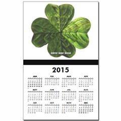 Concentric 4 Leaf Clover Calendar Print
