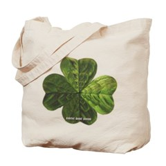 Concentric 4 Leaf Clover Canvas Tote Bag