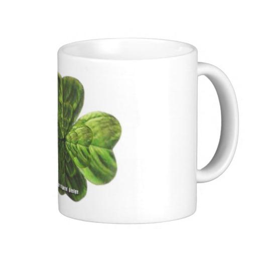Concentric 4 Leaf Clover Classic White Mug