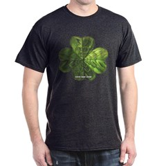 Concentric 4 Leaf Clover Dark T-shirt