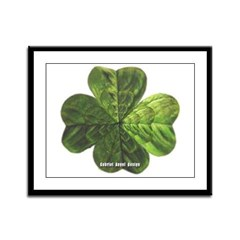 Concentric 4 Leaf Clover Framed Panel Print