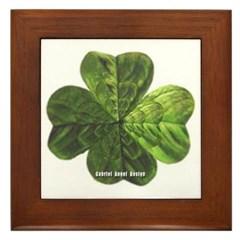 Concentric 4 Leaf Clover Framed Tile