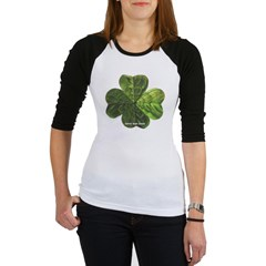 Concentric 4 Leaf Clover Junior Raglan T-shirt