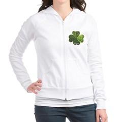 Concentric 4 Leaf Clover Junior Zip Hoodie