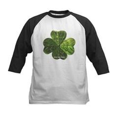 Concentric 4 Leaf Clover Kids Baseball Jersey T-Shirt