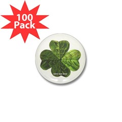 Concentric 4 Leaf Clover Mini Button (100 pack)