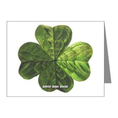 Concentric 4 Leaf Clover Note Cards (Pk of 20)