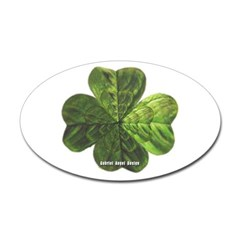 Concentric 4 Leaf Clover Oval Decal