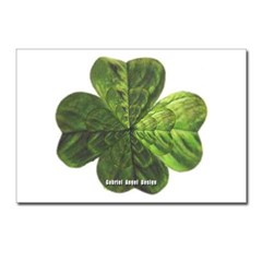 Concentric 4 Leaf Clover Postcards (Package of 8)