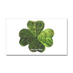 Concentric 4 Leaf Clover Rectangle Decal