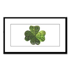 Concentric 4 Leaf Clover Small Framed Print
