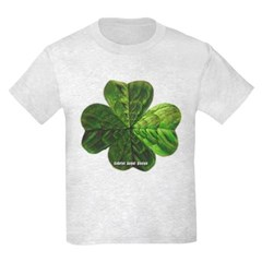 Concentric 4 Leaf Clover Youth T-Shirt by Hanes