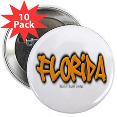 "Florida Graffiti 2.25"" Button (10 pack)"