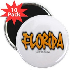 "Florida Graffiti 2.25"" Magnet (10 pack)"
