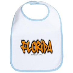 Florida Graffiti Baby Bib