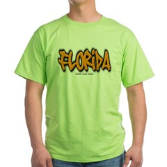 Florida Graffiti Green T-Shirt