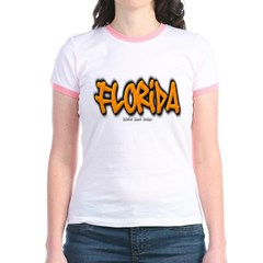 Florida Graffiti Junior Ringer T-Shirt