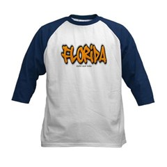 Florida Graffiti Kids Baseball Jersey T-Shirt