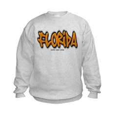 Florida Graffiti Kids Crewneck Sweatshirt by Hanes