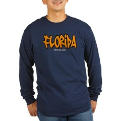 Florida Graffiti Long Sleeve Dark T-Shirt