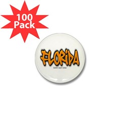 Florida Graffiti Mini Button (100 pack)