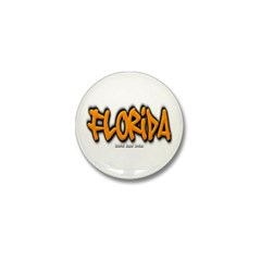 Florida Graffiti Mini Button