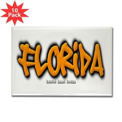 Florida Graffiti Rectangle Magnet (10 pack)