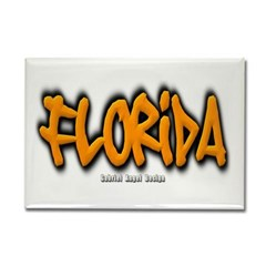 Florida Graffiti Rectangle Magnet