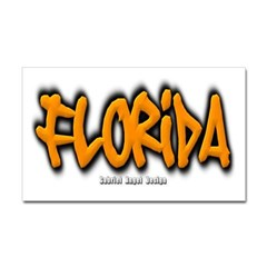 Florida Graffiti Sticker (Rectangular)